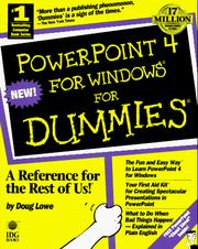 Cover of: PowerPoint 4 for Windows for dummies