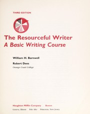 Cover of: The resourceful writer