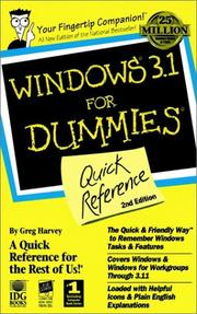 Cover of: Windows 3.1 for dummies quick reference