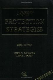 Cover of: Asset Protection Strategies, 2006 Edition
