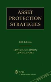 Cover of: Asset Protection Strategies, 2008 Edition (with CD)