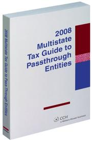 Cover of: Multistate Tax Guide to Pass-Through Entities (2008)