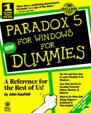Cover of: Paradox 5 for Windows for dummies