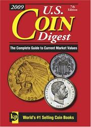Cover of: U. S. Coin Digest 2009 (US Coin Digest)