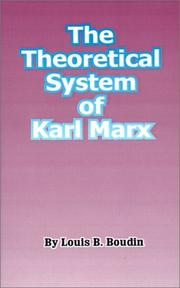 Cover of: The Theoretical System of Karl Marx