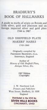 Cover of: Book of Hallmarks: Old Sheffield Plate Maker's Marks 1743 to 1860