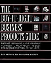 Cover of: The Buy-It-Right Business Product Guide