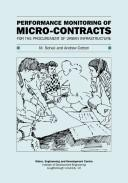 Cover of: Performance Monitoring of Micro-contracts for the Procurement of Urban Infrastructure