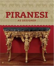 Cover of: Piranesi As Designer
