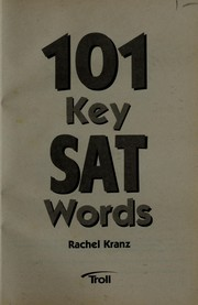Cover of: 101 key SAT words