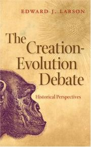 Cover of: The creation-evolution debate