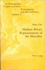 Cover of: Madame Bovary - Representations of the Masculine
