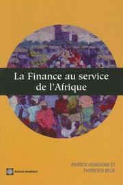 Cover of: La Finance Au Service de L'Afrique