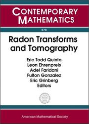 Cover of: Radon transforms and tomography