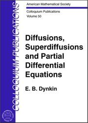 Cover of: Diffusions, Superdiffusions and Partial Differential Equations