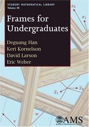 Cover of: Frames for Undergraduates (Student Mathematical Library)