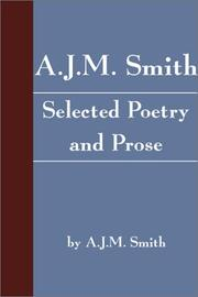 Cover of: A.J.M. Smith