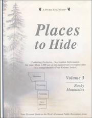 Cover of: Places to Hide