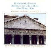 Cover of: History of the City of Rome in the Middle Ages, Vol. 1-8 (CD-ROM for Mac)