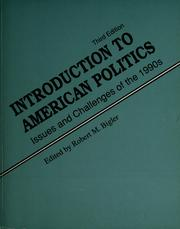 Cover of: Introduction to American Politics: Issues and Challenges of the 1990s