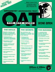 Cover of: OAT: Optometry Admission Test