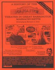 Cover of: A History of the Mahaiwe Theater in Great Barrington, Massachusetts