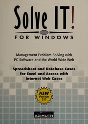 Cover of: Solve it! for windows