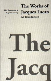Cover of: The Works of Jacques Lacan: An Introduction
