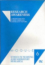 Cover of: Ethics in Nursing and Midwifery Research (Research Awareness S.)