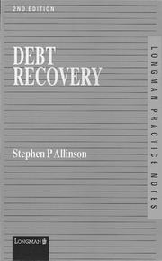Cover of: Debt Recovery (Practice Notes Series)