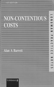 Cover of: Non-Contentious Costs (Practice Notes Series)
