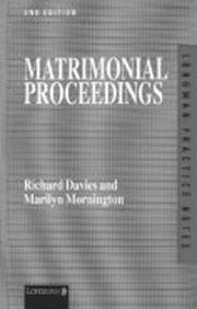 Cover of: Matrimonial Proceedings (Practice Notes Series)