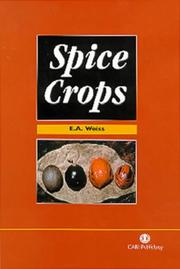 Cover of: Spice Crops (Cabi Publishing)