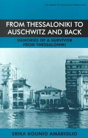 Cover of: From Thessaloniki to Auschwitz and Back