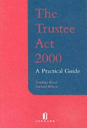 Cover of: The Trustee Act 2000