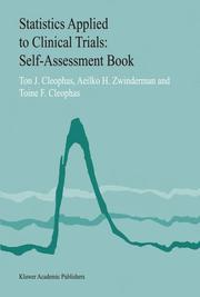 Cover of: Statistics Applied to Clinical Trials Self-Assessment Book