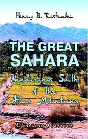 Cover of: The Great Sahara: Wanderings South of the Atlas Mountains