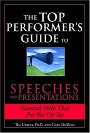 Cover of: The Top Performers Guide to Speeches and Presentations (Top Performers Guide to)