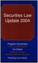 Cover of: Securities Law Update 2004