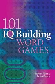 Cover of: 101 IQ Building Word Games