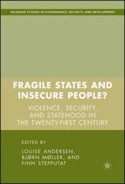 Cover of: Fragile States and Insecure People?