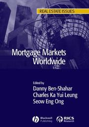 Cover of: Mortgage Markets Worldwide (Real Estate Issues)
