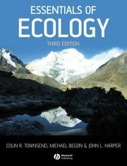 Cover of: Essentials of Ecology