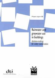 Cover of: Rainwater and Greywater Use in Buildings