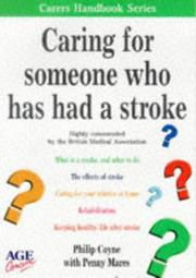 Cover of: Caring for Someone Who Has Had a Stroke (Carers Handbook)