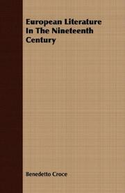 Cover of: European literature in the nineteenth century