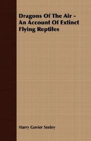 Cover of: Dragons Of The Air - An Account Of Extinct Flying Reptiles