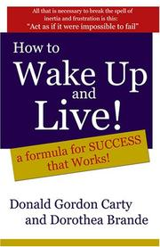 Cover of: How to Wake Up and Live