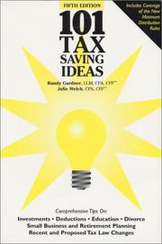 Cover of: 101 Tax Saving Ideas, 5th Edition