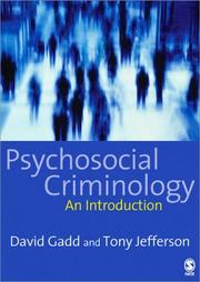 Cover of: Psychosocial Criminology